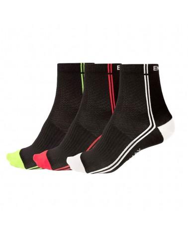 Endura Coolmax Stripe II Sock Calze Uomo(3 Paia), Mixed Black
