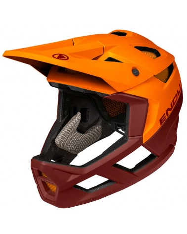 Endura MT500 Full Face Helmet, Tangerine