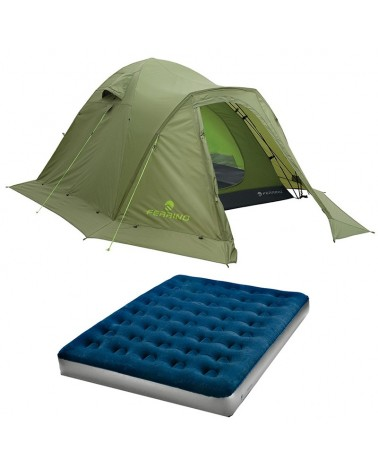 Ferrino Comfort Set - Tenda Tenere' 4 + Materassino Double Flock