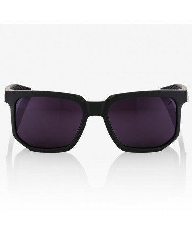 100% Centric Glasses Soft Tact Midnight Mauve - Purple Lens + Clear Lens