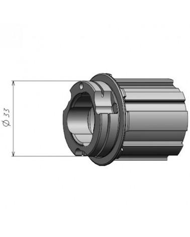 Fulcrum  R0-201S Shimano HG Road Steel Freewheel Body Ø33 mm + Pawls