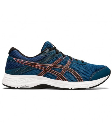 Asics Gel-Contend 6 Scarpe Uomo, Mako Blue/Sunrise Red