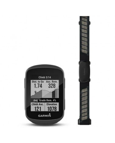 Garmin Edge 130 Plus GPS Bike Computer Bundle con Fascia Cardio HRM-Dual