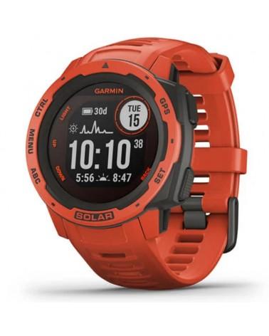 Garmin Instinct Solar Wrist-Based HR GPS Smartwatch, Flame Red