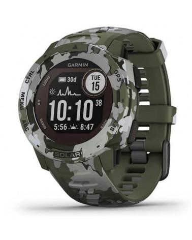 Garmin Instinct Solar Camo Edition Wrist-Based HR GPS Smartwatch, Lichen