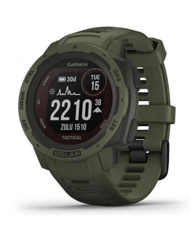 Garmin Instinct Solar Tactical Edition Wrist-Based HR GPS Smartwatch, Moss