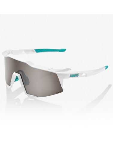 100% SpeedCraft Glasses Team BORA White - HiPER Silver Mirror Lens + Clear Lens