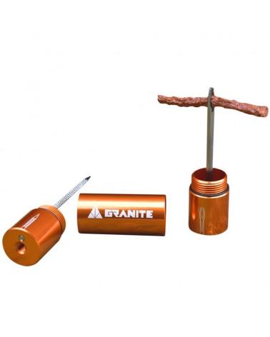 Granite Stash - Tire Plug Kit Stashed Inside Handlebar, Orange