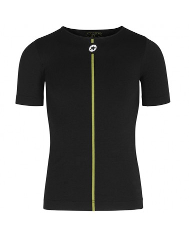 Assos Spring Fall Men's Short Sleeve Cycling Skin Layer, Black Series