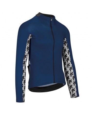 Assos Mille GT Summer Men's Long Sleeve Cycling Jersey Full Zip, Caleum Blue