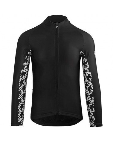Assos Mille GT Spring/Fall Men's Long Sleeve Cycling Jersey Full Zip, Black Series
