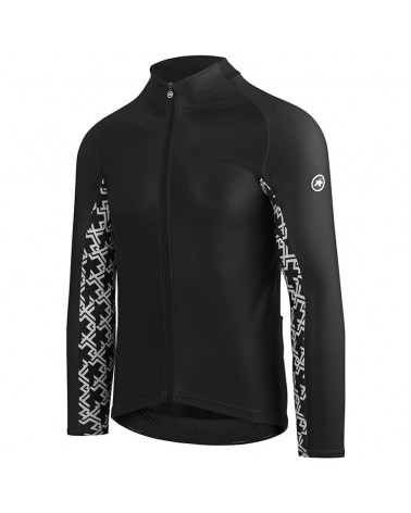Assos Mille GT Spring/Fall Maglia Maniche Lunghe Uomo Full Zip, Black Series