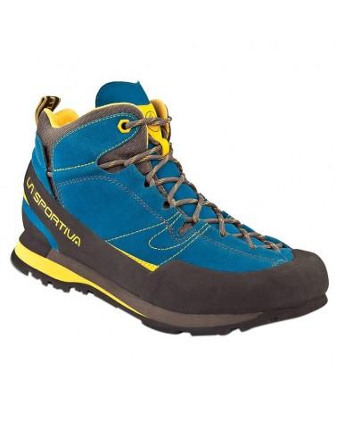 La Sportiva Boulder X MID Scarponi Uomo, Blue/Yellow