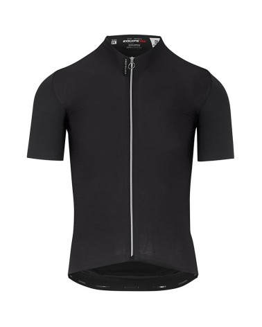 Assos Equipe RS Aero Men's Short Sleeve Cycling Jersey Full Zip, Prof Black