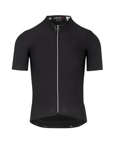 Assos Equipe RS Aero Men's Short Sleeve Cycling Jersey Full Zip, Prof Black