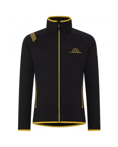 La Sportiva Promo Fleece Giacca in Pile Uomo, Black/Yellow