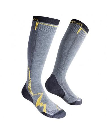 La Sportiva Mountain Socks Long Calze Uomo, Grey/Yellow