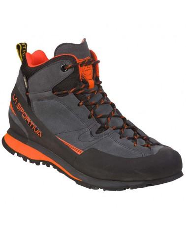 La Sportiva Boulder X MID Men's Approach Boots, Carbon/Flame