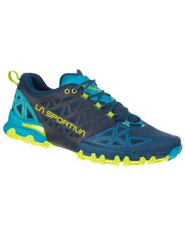 La Sportiva Bushido II Men's Trail Running Shoes, Opal/Apple Green