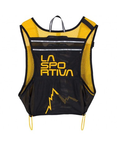 La Sportiva Racer Vest Zaino Gilet Trail Running, Black/Yellow
