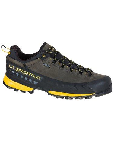 La Sportiva TX5 Low GTX Gore-Tex Men's Approach Shoes, Carbon/Yellow