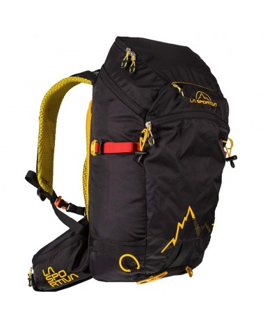 La Sportiva Moonlite Backpack Zaino Scialpinismo 30 Litri, Black/Yellow
