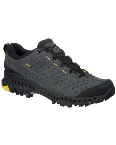 La Sportiva Hyrax GTX Gore-Tex Men's Fast Hiking Shoes, Carbon/Yellow