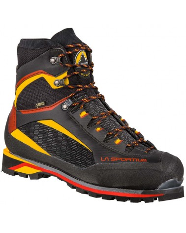 La Sportiva Trango Tower Extreme GTX Gore-Tex Men's Crampon Compatible Mountaineering Boots, Black/Yellow