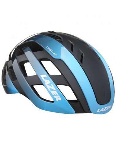 Lazer Century Road Cycling Helmet + Led, Blue/Black
