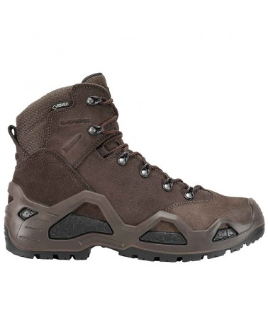 Lowa Z-6S MID GTX Gore-Tex Men's Tactical Boots Suede Leather, Dark Brown