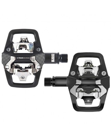 Look X-Track En-Rage Black MTB Bike Pedals with Cleats