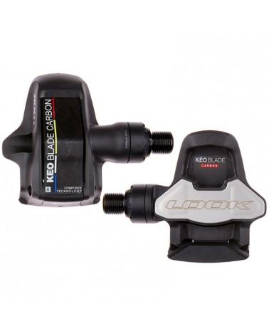Look Keo Blade Carbon 8+12 Pedali Bici Strada con Tacchette, Nero