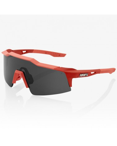 100% SpeedCraft SL Glasses Soft Tact Coral - Smoke Lens + Clear Lens