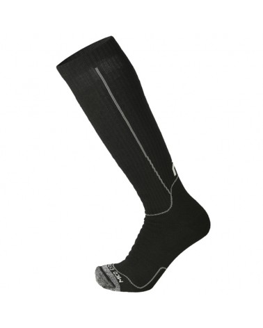 Mico Mountaineering Super Thermo Primaloft Long Socks, Black