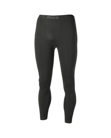 Mico Extra Dry Skintech Seamless Men's Long Underpant, Black
