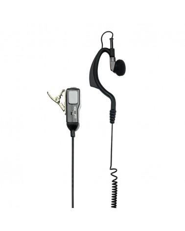 Midland Ma 21/SX Microfono con Auricolare Regolabile e PTT, con Cavi Spiralati