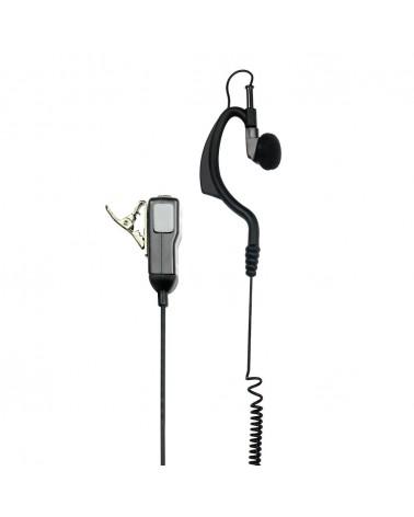 Midland MA21-LK Microfono con Auricolare Regolabile 2 Pin Kenwood