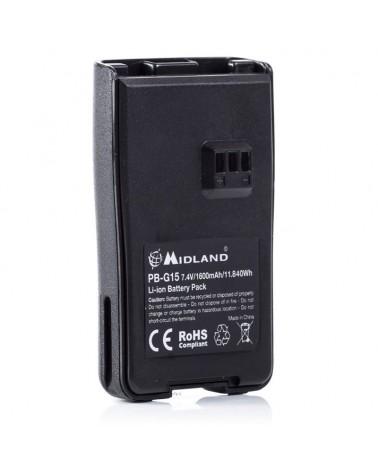 Midland PB-G15 Pacco Batterie Ricaricabili per G15/G18/Arctic