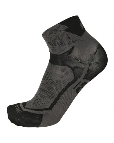 Mico Run X-Performance X-Light Short Socks, Black/Anthracite
