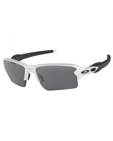 Oakley Occhiali Flak 2.0 XL Polished White-Black/Prizm Black Polarized