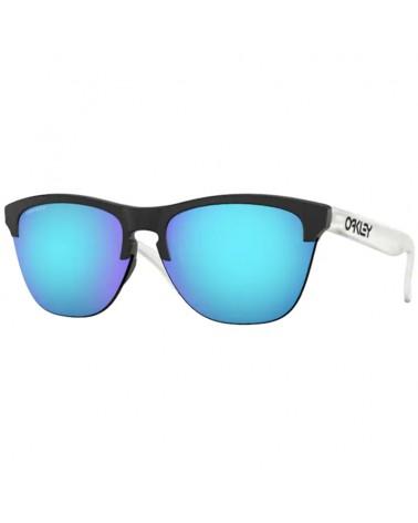 Oakley Frogskins Lite Glasses Matte Black-Matte Clear/Prizm Sapphire Iridium