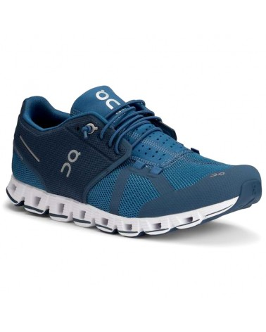 On Cloud Men's Running Shoes, Blue/Denim