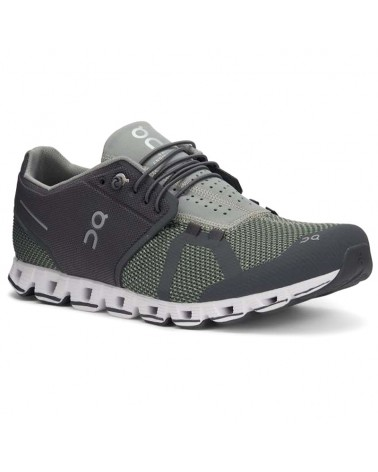On Cloud Men's Running Shoes, Rock/Leaf