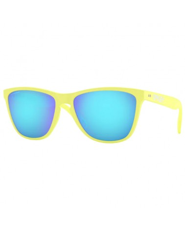 Oakley Frogskins Glasses 35TH Matte Neon Yellow/Prizm Sapphire