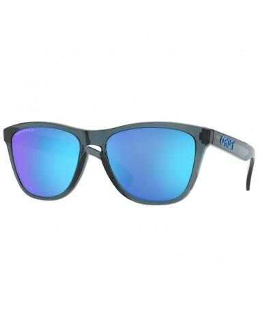 Oakley Frogskins Glasses Crystal Black/Prizm Sapphire Polarized
