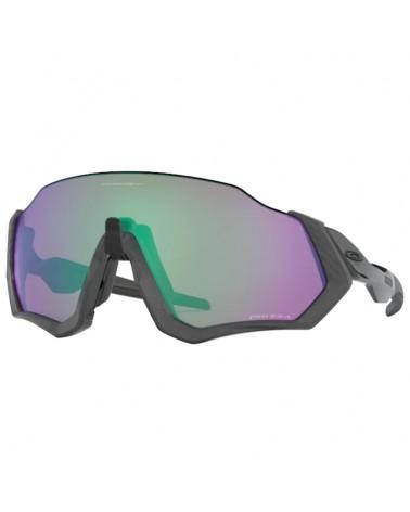 Oakley Cycling Glasses Flight Jacket Matte Steel/Prizm Road Jade