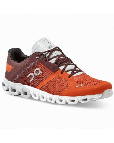 On Cloudflow Men's Running Shoes, Flare/Dawn