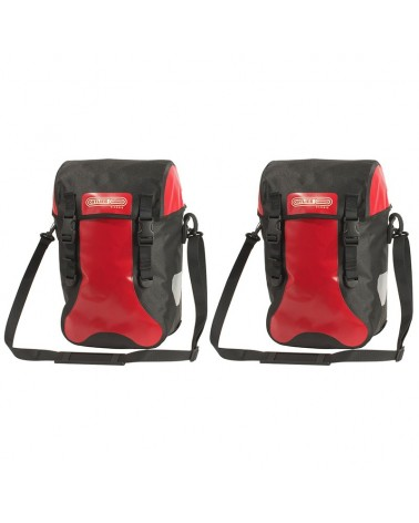 Ortlieb Sport-Packer Classic Bike Panniers, Pair 30 Liters, Red/Black