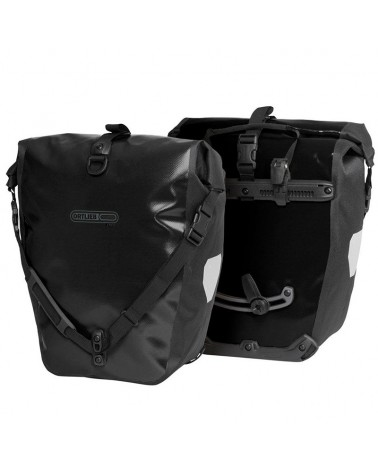 Ortlieb Back-Roller Free F5103 Coppia Borse Bici Posteriori 40 L, Black