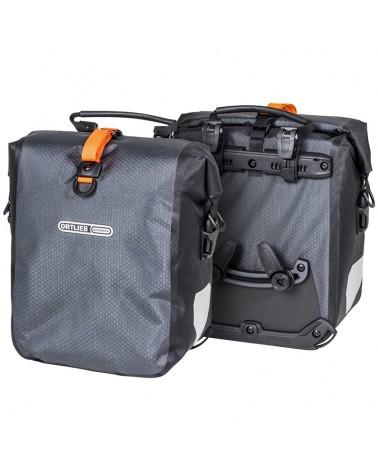 Ortlieb Gravel-Pack F9981 Bike Panniers, Pair Front 25 l, Slate